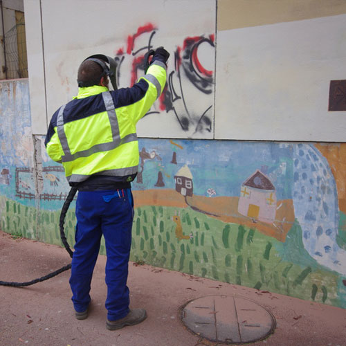 Nettoyage tags et graffitis